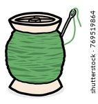 needle and bobbin   cartoon...   Shutterstock .eps vector #769519864