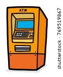atm   cartoon vector and... | Shutterstock .eps vector #769519867