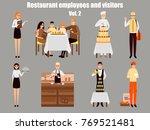 restaurant workers cartoon... | Shutterstock . vector #769521481