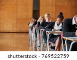 teenage students in uniform...   Shutterstock . vector #769522759