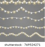 christmas lights isolated on... | Shutterstock .eps vector #769524271
