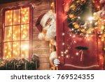 christmas concept. portrait of... | Shutterstock . vector #769524355
