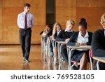 teenage students sitting... | Shutterstock . vector #769528105