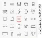 technology  devices  gadgets... | Shutterstock .eps vector #769531255