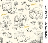 vector pattern with cheese...   Shutterstock .eps vector #769538791