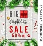 christmas sale. vector banner | Shutterstock .eps vector #769544779