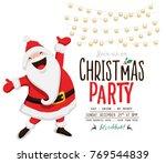 christmas invitation card.vector | Shutterstock .eps vector #769544839