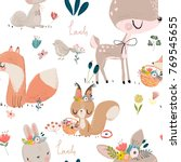 seamles pattern with cute...