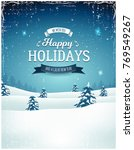 vintage holiday season... | Shutterstock .eps vector #769549267