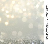 christmas light background. ... | Shutterstock . vector #769549894