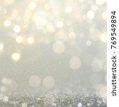 christmas light background. ... | Shutterstock . vector #769549894