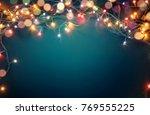 Colorful Christmas Lights On...