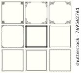 decorative frames  set 56  | Shutterstock .eps vector #769562761