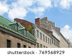 colourful victorian style roofs ... | Shutterstock . vector #769568929