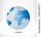 globe earth illustration... | Shutterstock . vector #769574077