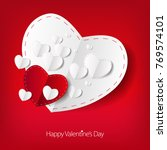 valentines day love card with... | Shutterstock . vector #769574101