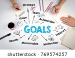 goals concept. chart with... | Shutterstock . vector #769574257