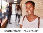 portrait of female teenage... | Shutterstock . vector #769576804