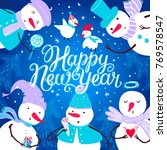 christmas card design with... | Shutterstock .eps vector #769578547