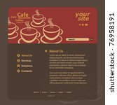 website template | Shutterstock .eps vector #76958191
