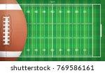 american football ball on... | Shutterstock .eps vector #769586161