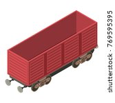 wagon transportation icon.... | Shutterstock .eps vector #769595395