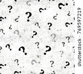 question mark seamless pattern .... | Shutterstock . vector #769597219