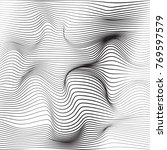 distorted wave monochrome... | Shutterstock .eps vector #769597579