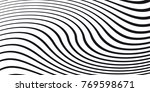 black and white wave stripe... | Shutterstock .eps vector #769598671