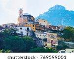 architecture of positano town ... | Shutterstock . vector #769599001