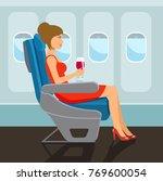 passenger young beautiful girl... | Shutterstock .eps vector #769600054