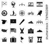 new map icons set. simple set... | Shutterstock .eps vector #769602889