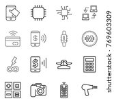 thin line icon set   touch ... | Shutterstock .eps vector #769603309