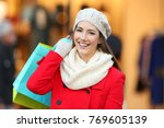 front view portrait of a happy... | Shutterstock . vector #769605139