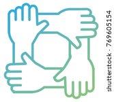 united teamwork hands icon | Shutterstock .eps vector #769605154