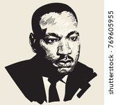 martin luther king. hand drawn... | Shutterstock . vector #769605955