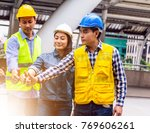 working engineer. they are join ... | Shutterstock . vector #769606261