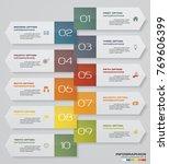 modern 10 steps process. simple ...   Shutterstock .eps vector #769606399