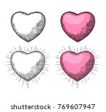 heart with rays. vector color...   Shutterstock .eps vector #769607947