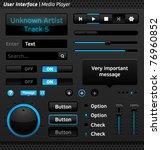 vector user interface  media... | Shutterstock .eps vector #76960852