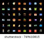 shopping icons set   Shutterstock .eps vector #769610815