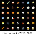 restaurant icons set | Shutterstock .eps vector #769610821