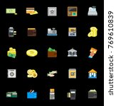 money icons set   Shutterstock .eps vector #769610839