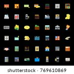 financial icons set | Shutterstock .eps vector #769610869