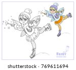 winter fairy ice skating color... | Shutterstock .eps vector #769611694