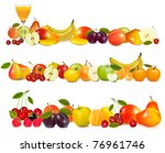 three fruit design borders... | Shutterstock .eps vector #76961746