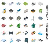 iron icons set. isometric style ... | Shutterstock .eps vector #769618381