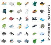iron thing icons set. isometric ... | Shutterstock .eps vector #769618441