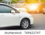 Stock photo car parked on street car parked on road 769621747