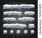 snow drift vector. snowballs ... | Shutterstock .eps vector #769622809